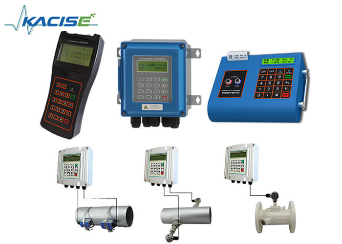 Wall Mount Fixed Handheld Ultrasonic Flow Meter For DN15 - 6000 Pipe Easy Installation